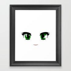 Anime face Framed Art Print