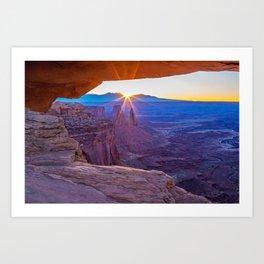 Sunrise Through Mesa Arch Art Print