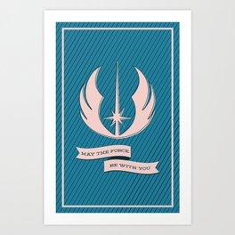 Jedi Blueprints Art Print