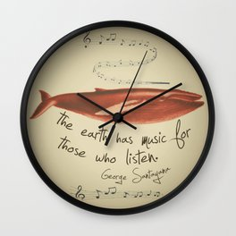 The Earth has Music... Wall Clock