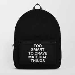 6 inch - plain font Backpack