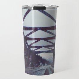 Drive Over Wooden Bridge Travel Mug