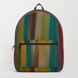Colorful Acrylic Painting Paths Backpack