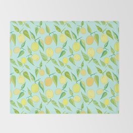 Lemon Twist Throw Blanket