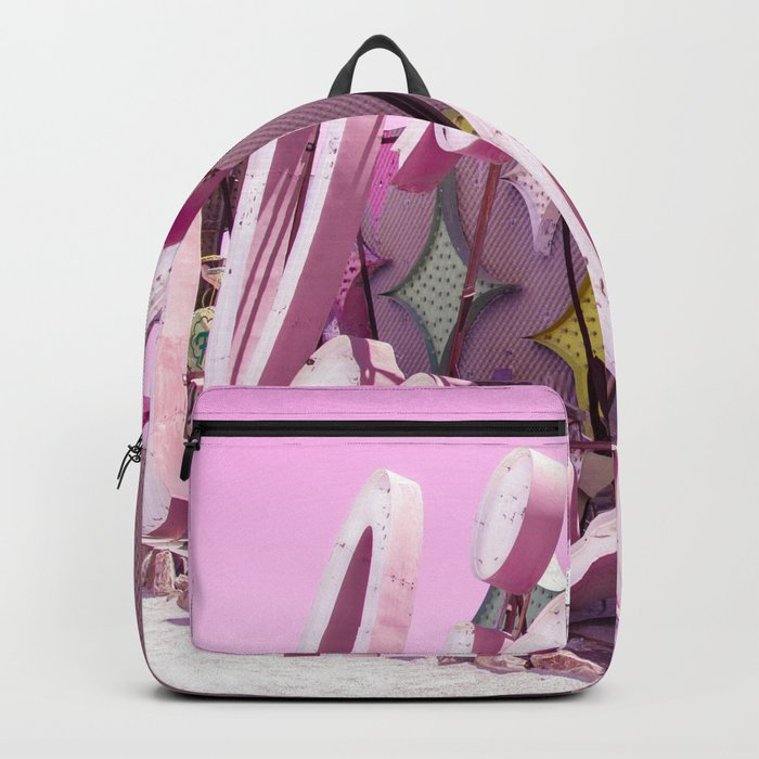 """Pink """"In Love"""" Sign at the Neon Museum in Las Vegas, Nevada Backpack"""