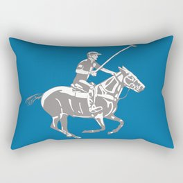 Polo pony and rider Rectangular Pillow