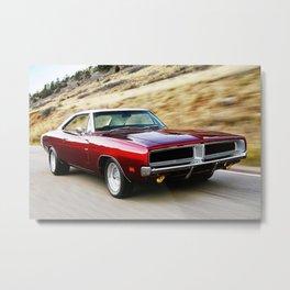 Vintage 1969 MOPAR 426 Hemi Charger Muscle Car Metal Print