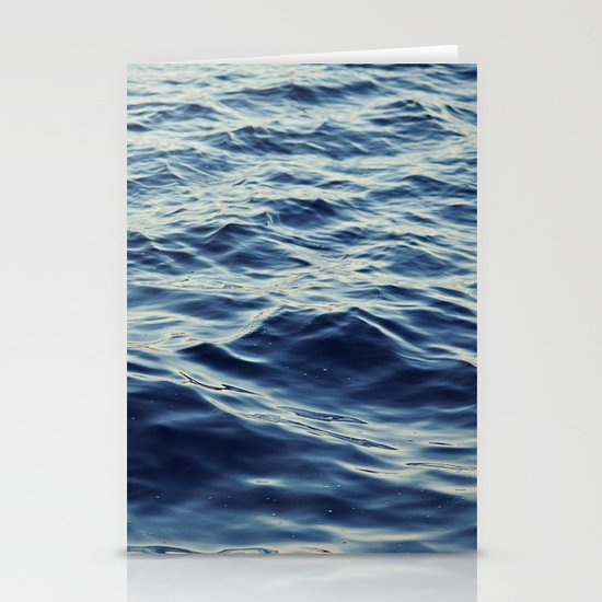 Water Waves Stationery Cards