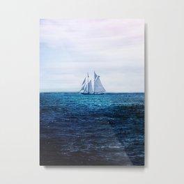 Sailing Ship on the Sea Metal Print