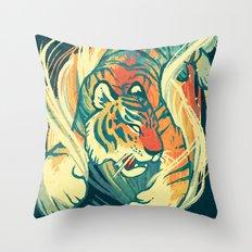 Astral Tiger Throw Pillow