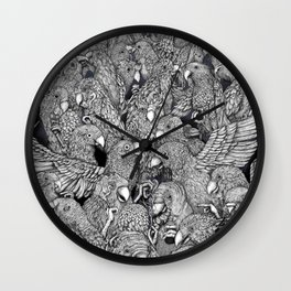 Birds of a feather .. Wall Clock