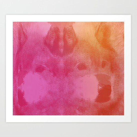WOLFACE Art Print