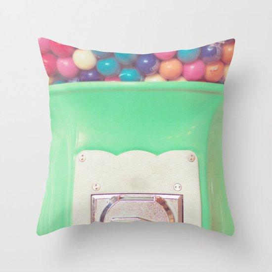 Happy Bubblegum Throw Pillow