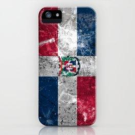 Bandera Dominicana Grunge iPhone Case