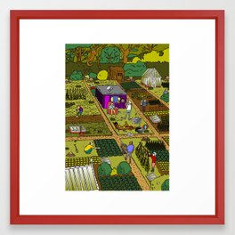 Allotment Hedz Framed Art Print