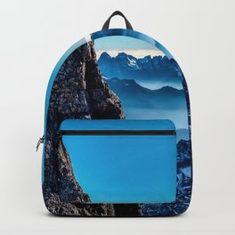 Moutain sky ice blue Backpack