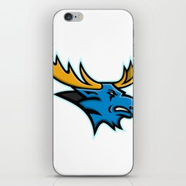 Bull Moose Head Mascot iPhone Skin