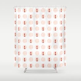 gnome girl with flowers Shower Curtain