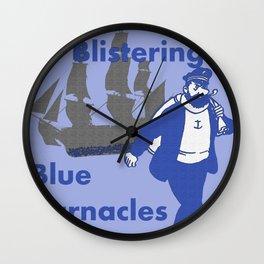 Blue Barnacles Wall Clock