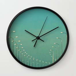 Road lamps Wall Clock