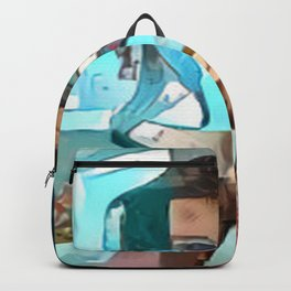 Collaged Look Backpack