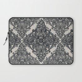 Charcoal Lace Pencil Doodle Laptop Sleeve