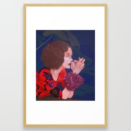 red thread Framed Art Print