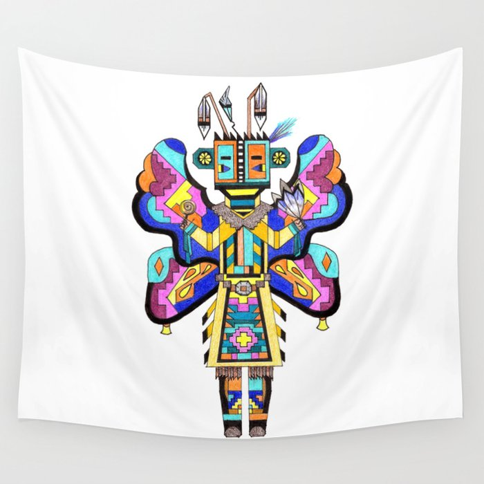 Kachina Butterfly 4 Wall Tapestry