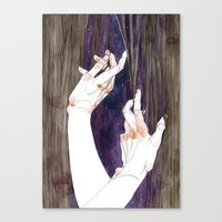 fabric Canvas Prints featuring Fabric by Jana Heidersdorf Illustration