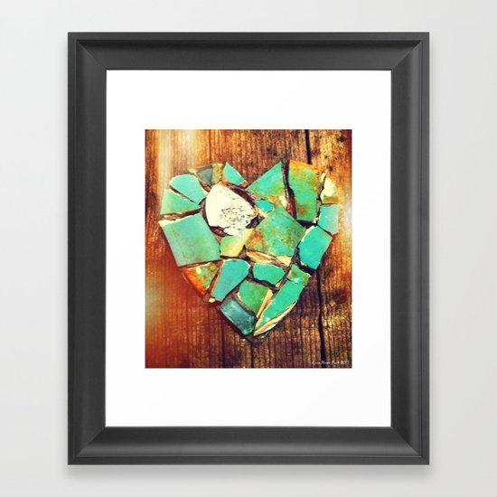 Mosaic Heart Framed Art Print