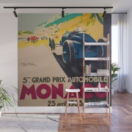 Vintage 1933 Monaco Grand Prix Car Advertisement Poster by Geo Ham Wall Mural