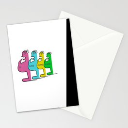 Je mange comme quatre ! - I eat like four (people) ! Stationery Cards