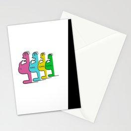 Je mange comme quatre ! - I eat like four (people) ! Stationery Cards