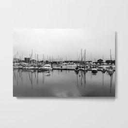 Boats Reflex Metal Print