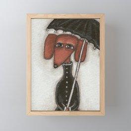 Fee under the umbrella Framed Mini Art Print