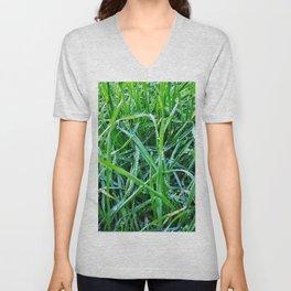 Dewy Grass Unisex V-Neck