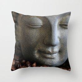 coffee buddha Throw Pillow