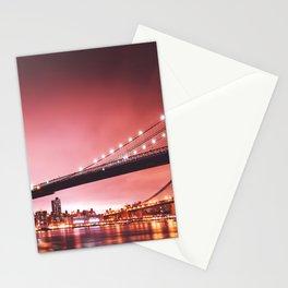 brooklyn bridge at dusk Stationery Cards