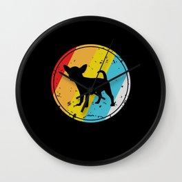 Chihuahua Silhouette Gift Wall Clock