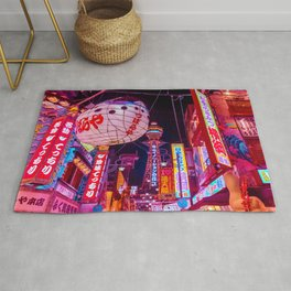 Electric Postcard from Osaka Rug