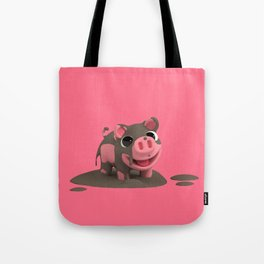 Rosa the Pig loves the Mud Tote Bag