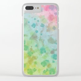 Colorful watercolor painting Clear iPhone Case