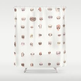 boobs shower curtain - Cute Shower Curtains