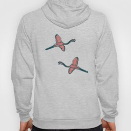 Pink Flamingo watercolor pattern pink Hoody