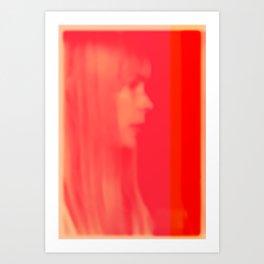 joni mitchell (pink) Art Print