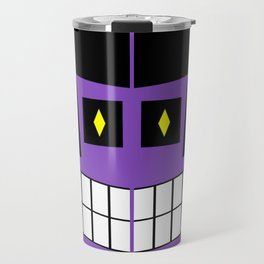 Purple Scary Face Travel Mug