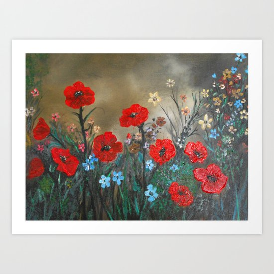 Impasto Poppy Love - Talins Poppy Love Art Print