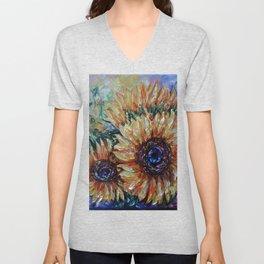 Ah, Sunflower by Lena Owens Unisex V-Neck