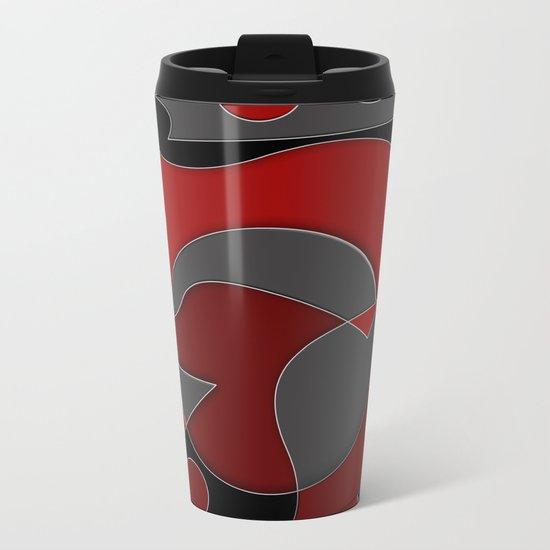 Abstract #319 Metal Travel Mug