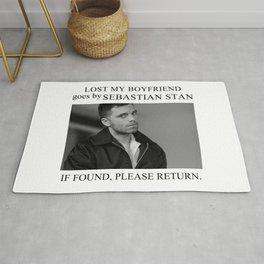 Lost my boyfriend Sebastian Stan Rug